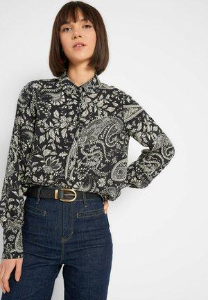 MIT PAISLEY-MUSTER - Button-down blouse - schwarz
