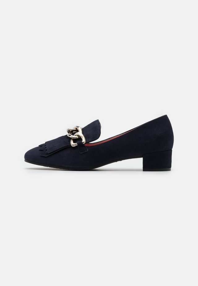 ANGELIS - Pumps - navy blue/oro