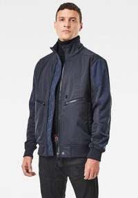 G-Star - SOFTSHELL BOMBER - Bomberjacks - mazarine blue/dk black - 1