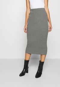 esmé studios - SKYLAR SKIRT - Pencil skirt - grey melange - 0