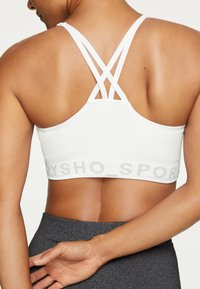 OYSHO - MIT LOGO  - Sports bra - white - 2
