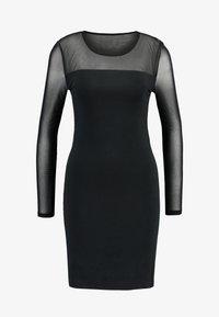 Vero Moda - VMMAYAM MESH CUT SHORT  - Robe fourreau - black - 6