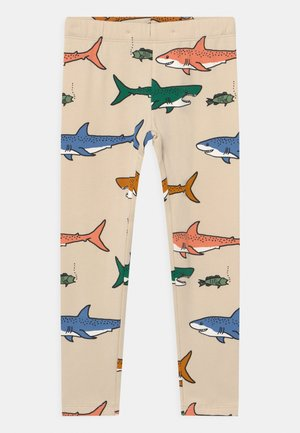 MINI SHARK - Leggings - beige