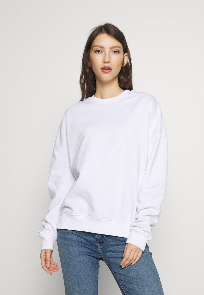 Even&Odd - BASIC - Crew Neck - Sweatshirt - white