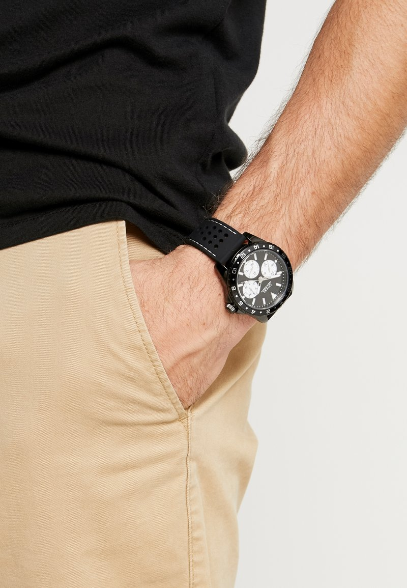 Guess - MENS SPORT - Watch - black/silver-coloured