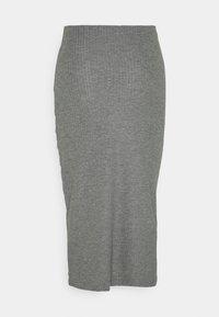ONLY - ONLNELLA SLIT SKIRT - Bleistiftrock - medium grey melange - 1