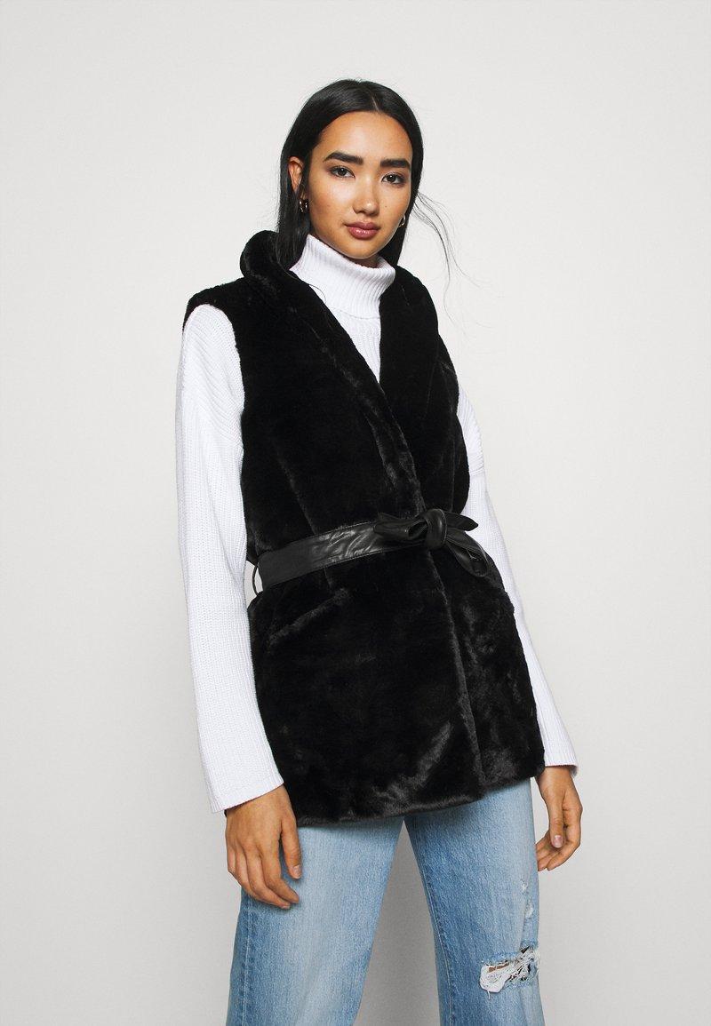 ONLY - ONLOLLIE WAISTCOAT - Waistcoat - black