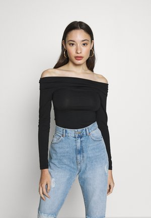 VMPANDA OFF SHOULDER TOP VIP  - Long sleeved top - black