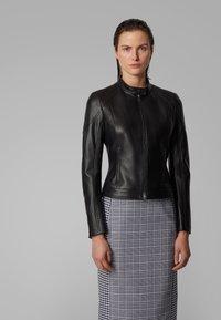 BOSS - SAFLAMA - Leather jacket - black - 2