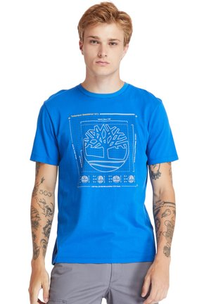 KENNEBEC RIVER PUFF EFFECT GRAPHIC - T-shirt med print - nautical blue