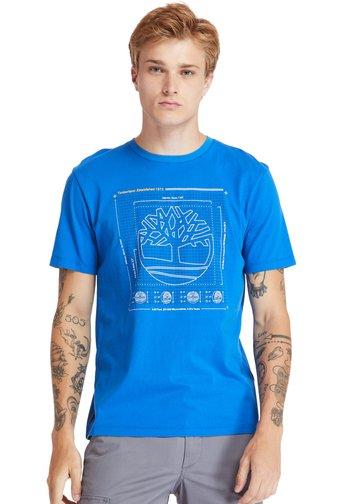 KENNEBEC RIVER PUFF EFFECT GRAPHIC - Print T-shirt - nautical blue