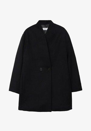 DOBBELTRADET ULD - Short coat - sort