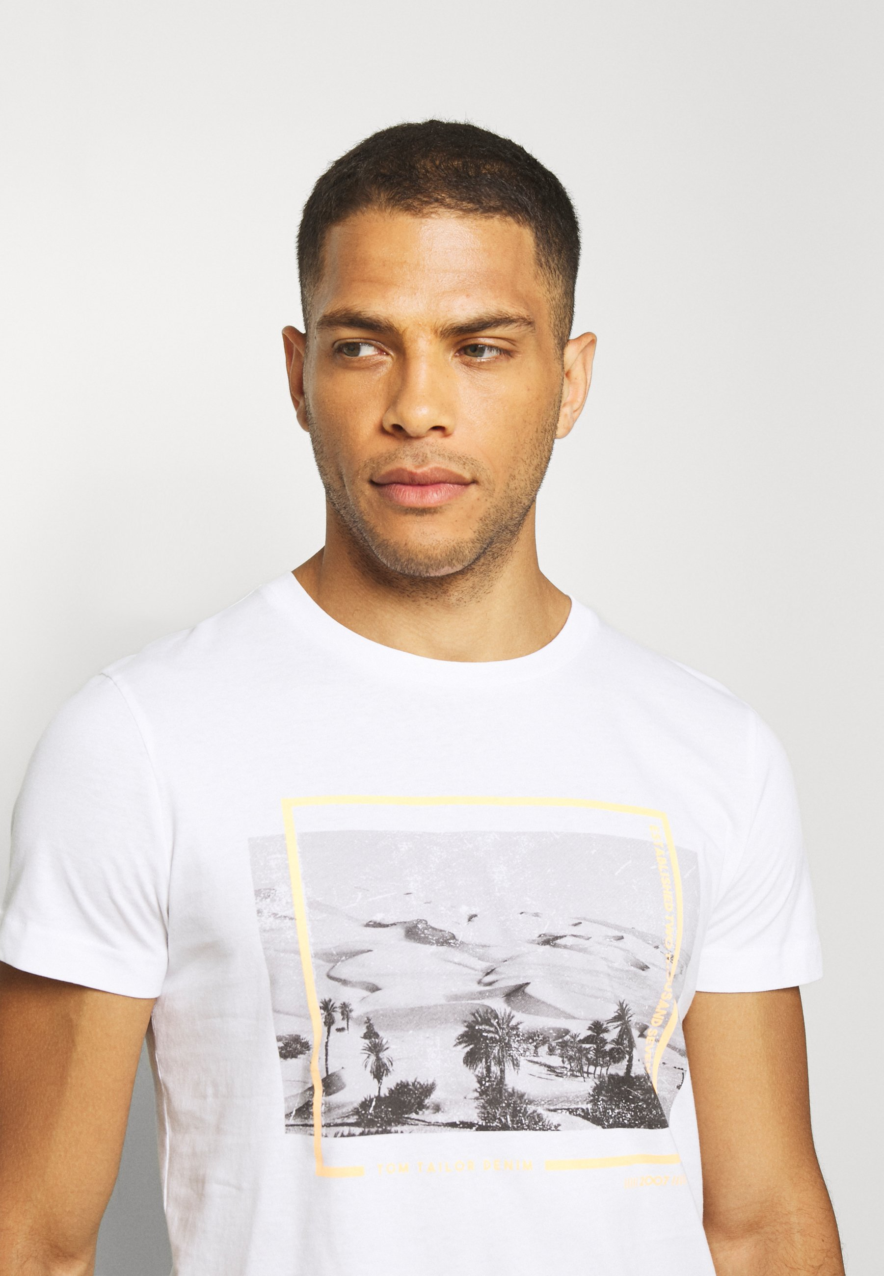 TOM TAILOR DENIM Print T-shirt - white k4lgR