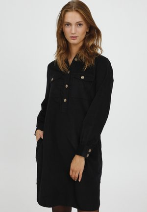 BYDINIA SHIRT - Shirt dress - black