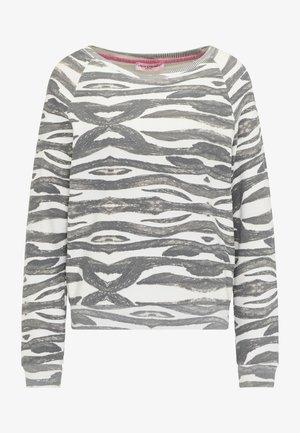 SWEATSHIRT MIT ALLOVER-PRINT - Sweatshirt - anthracite