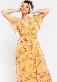 LolaLiza - BUTTERFLY - Maxi dress - yellow - 2