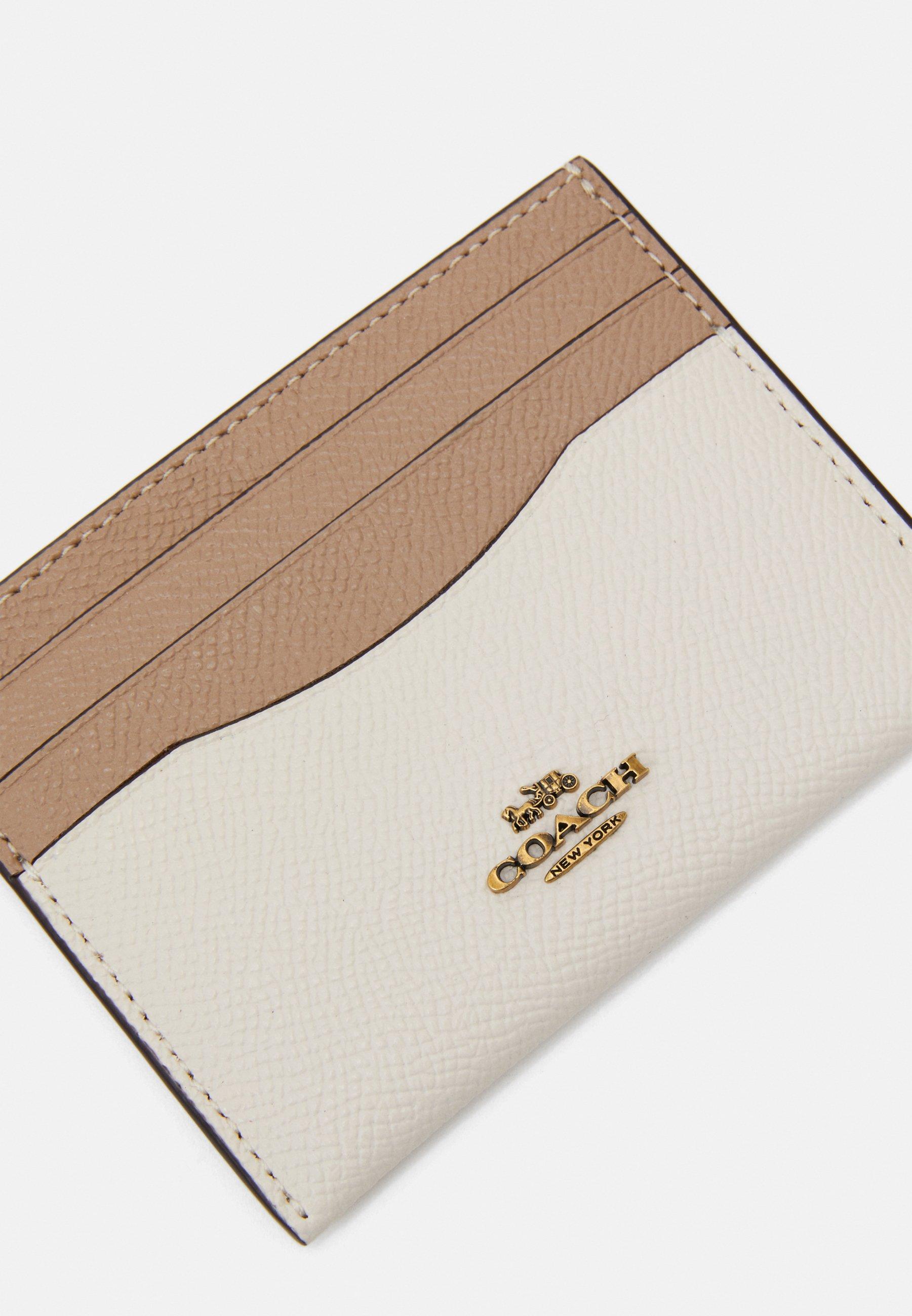 Coach COLORBLOCK FLAT CARD CASE - Kortholder - chalk/beige QkWSUByFLVruf7i