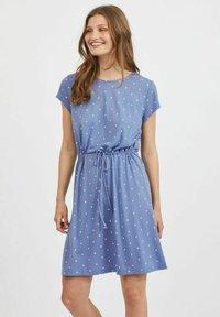 Vila - VIMOONEY STRING - Jersey dress - colony blue - 0