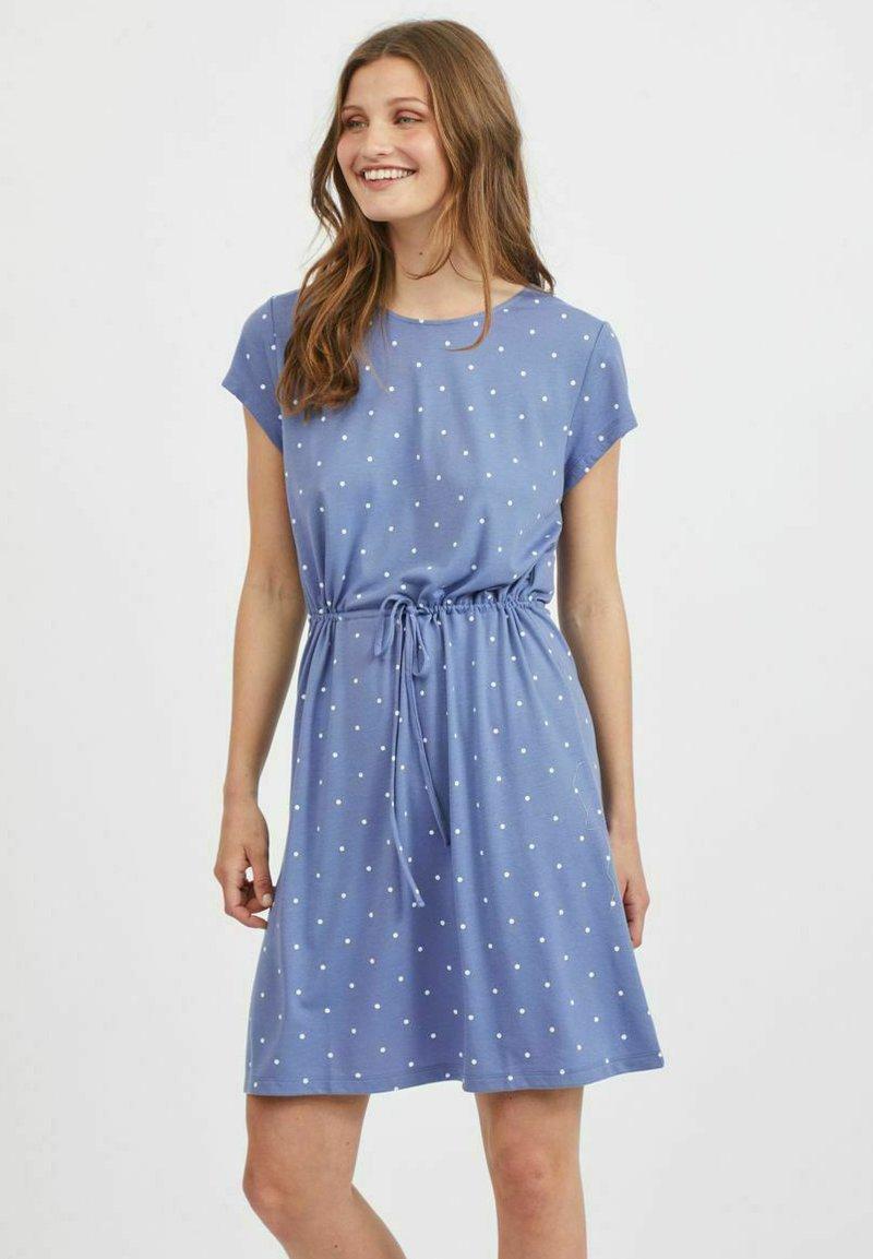 Vila - VIMOONEY STRING - Jersey dress - colony blue