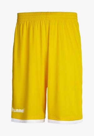 CORE BASKET - Short de sport - sports yellow