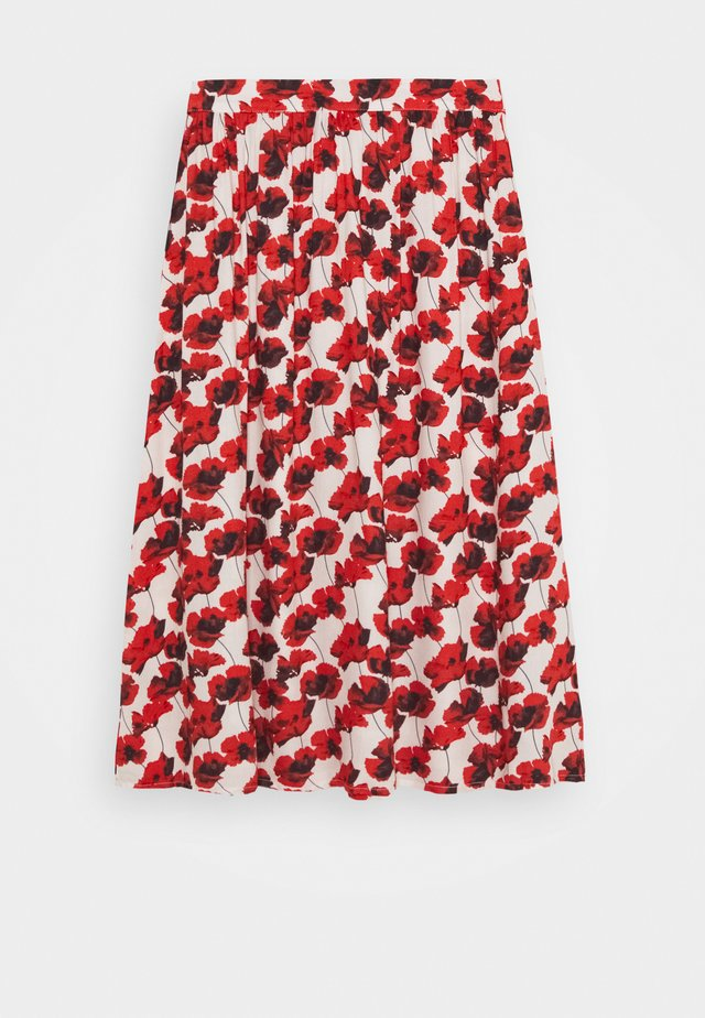 KENYA SKIRT - Maxi sukně - red