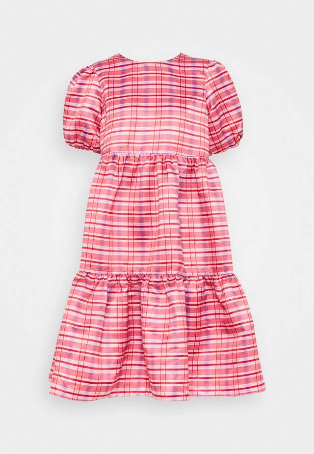 DRESS CHECK - Day dress - red/pink