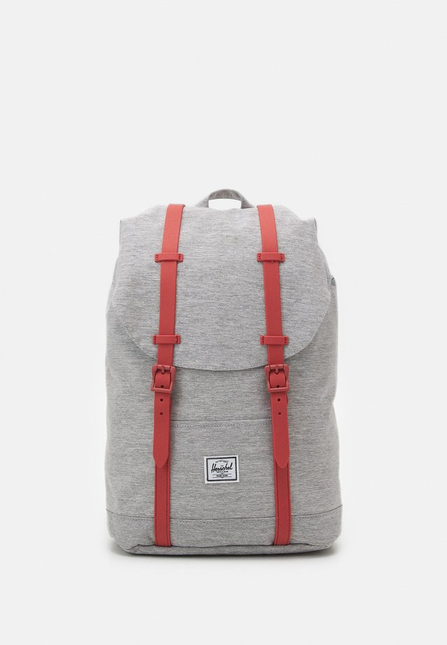 RETREAT UNISEX - Zaino - grey crosshatch/dusty cedar