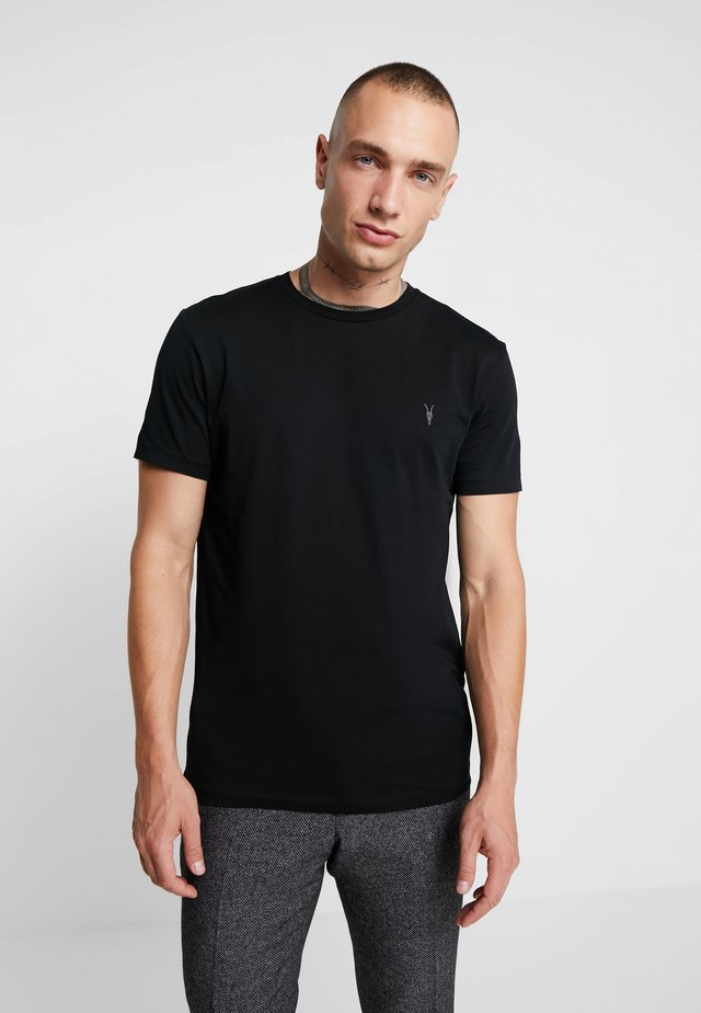 TONIC CREW - Basic T-shirt - jet black