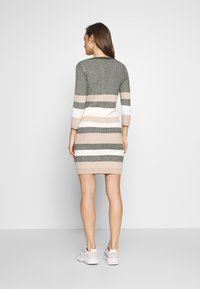 MAMALICIOUS - MLSAFFY SHORT DRESS - Jumper dress - dusty olive/snow white - 2