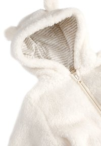 Next - ECRU COSY FLEECE BEAR PRAMSUIT (0MTHS-2YRS) - Overal - off-white - 2