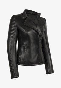 LEATHER HYPE - ÉLYSÉE PERFECTO - Leather jacket - black - 8