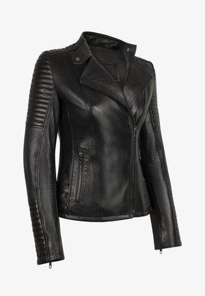 ÉLYSÉE PERFECTO - Leather jacket - black