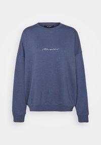 Missguided - SCRIPT DETAIL - Sweatshirt - blue - 0