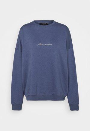 SCRIPT DETAIL - Sweatshirt - blue