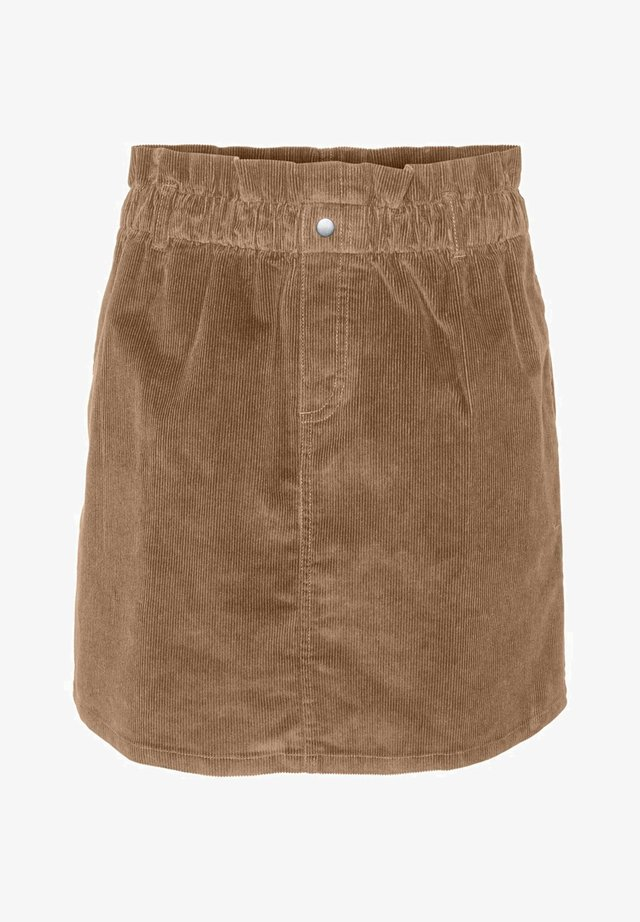 ROCK CORD - Mini skirt - toasted coconut