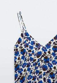 Massimo Dutti - MIT BLUMENPRINT  - Maxi dress - blue - 5