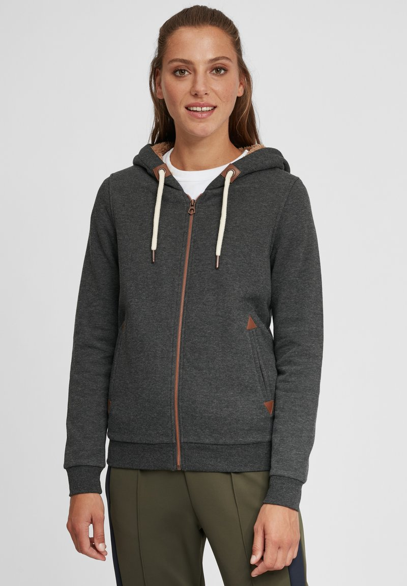 Oxmo - VICKY PILE - Zip-up hoodie - dar grey m