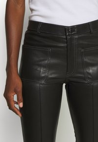 Ibana - ESTELLE - Leather trousers - black - 5