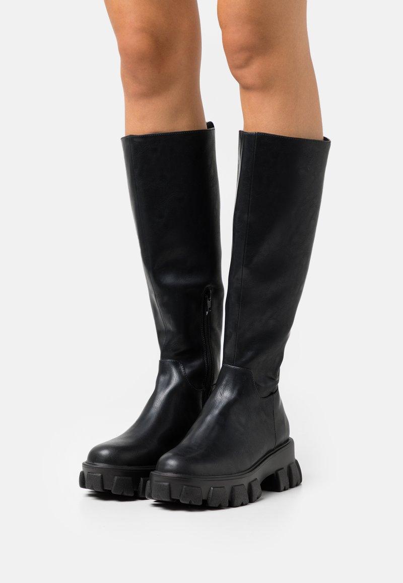 NA-KD - PROFILE SHAFT BOOTS - Platform boots - black