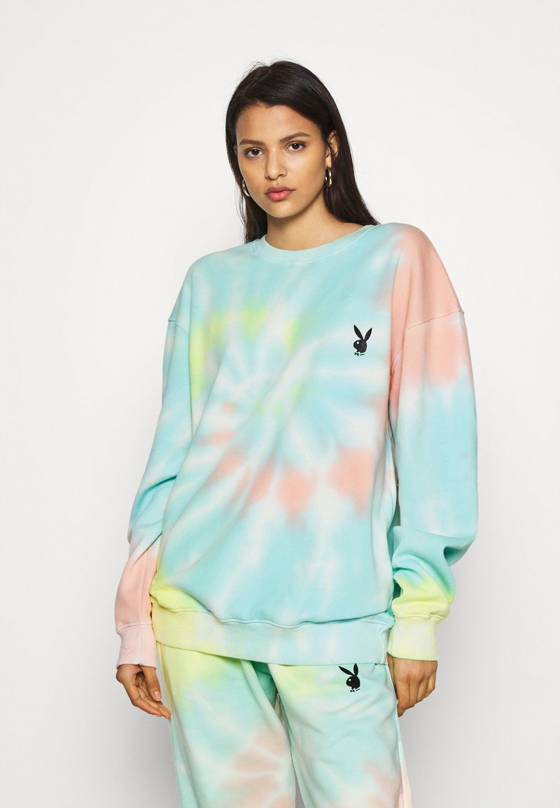 Missguided - PLAYBOY TIE DYE OVERSIZED CREW  - Sudadera - multi