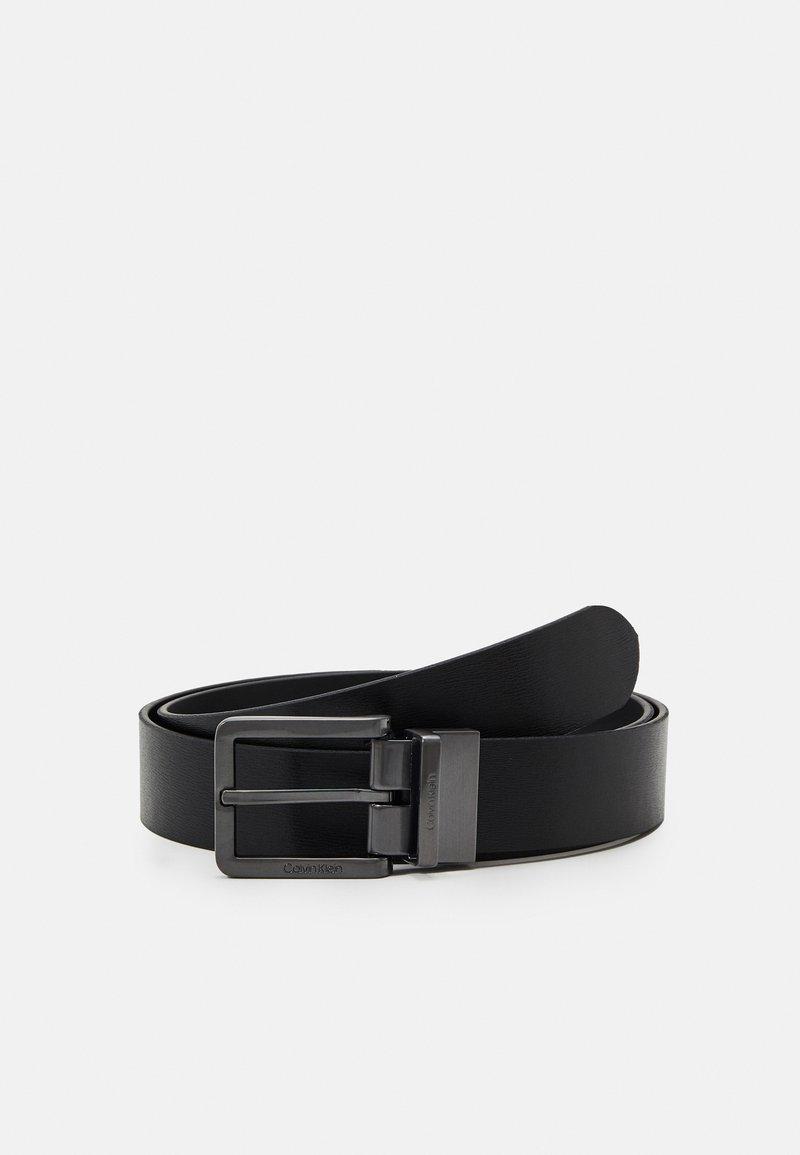 Calvin Klein - NANO PLAQUE ESSENTIAL BUCKLE SET - Belt - black