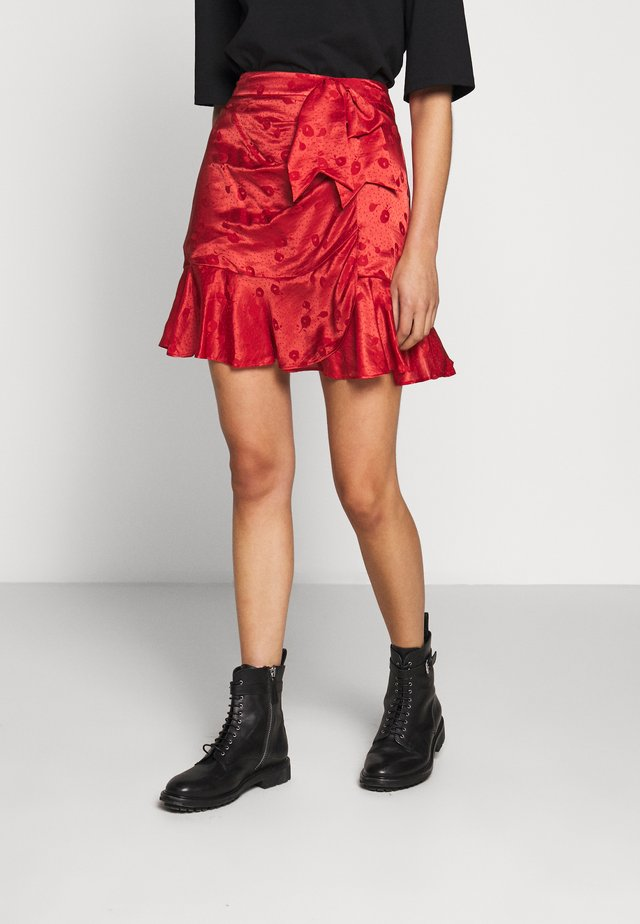 JUPE - A-line skirt - red