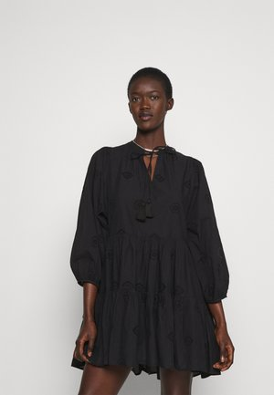 BORA BORA FLORA EMBROIDERY TIERED DRESS - Beach accessory - black