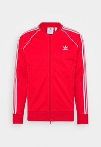 Training jacket - red/white