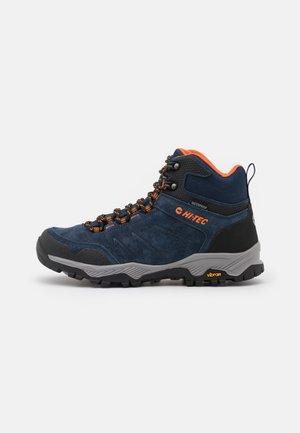 ENDEAVOUR WP - Hiking shoes - navy/black/orange