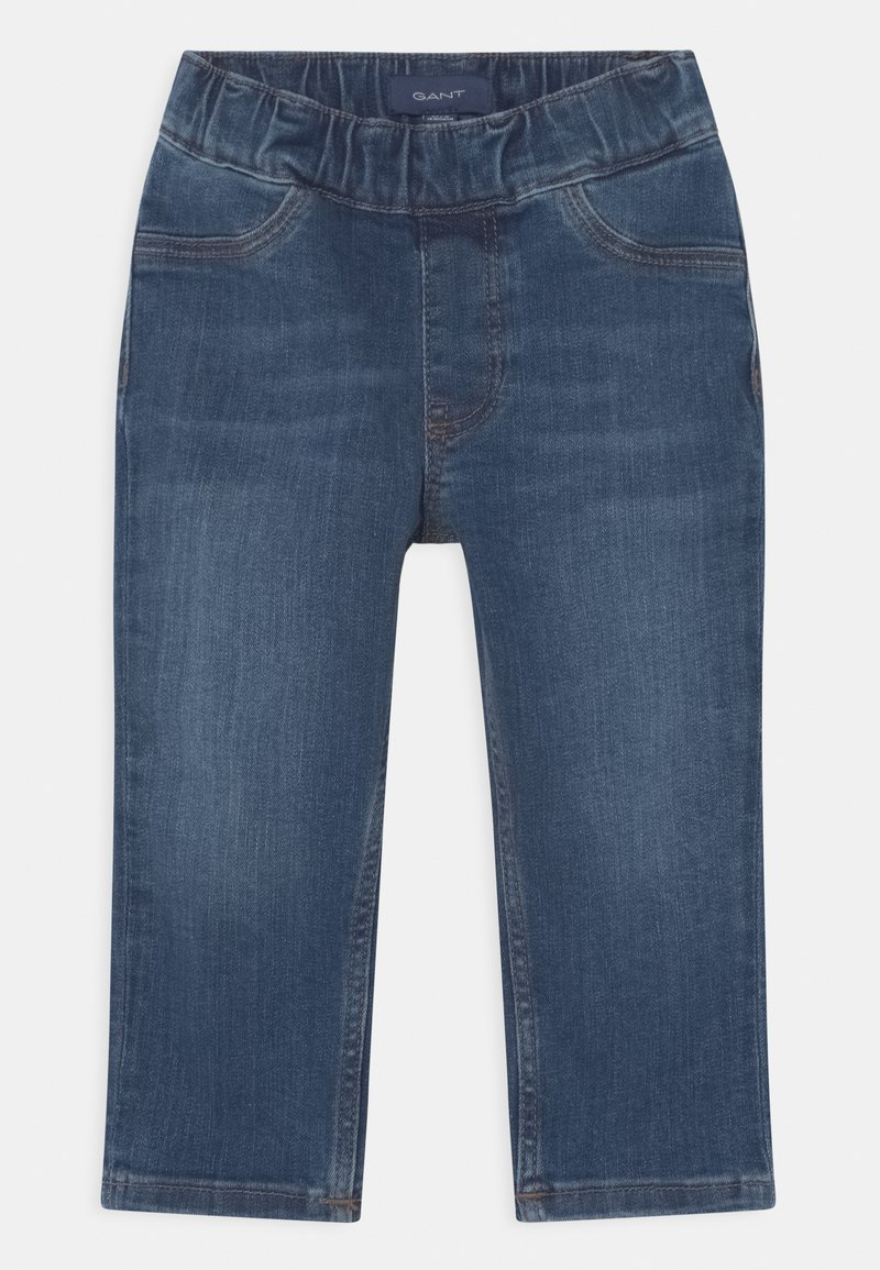 GANT - ARCHIVE SHIELD UNISEX - Slim fit jeans - semi light indigo