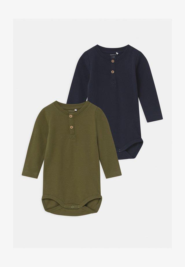 NBMSEFIN 2 PACK - Langærmede T-shirts - dark sapphire