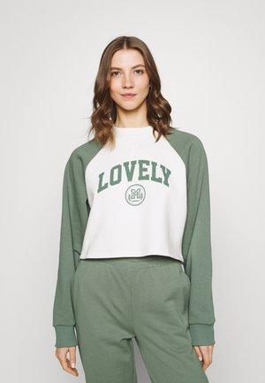 Baseball Printed Sweatshirt - Mikina - off white