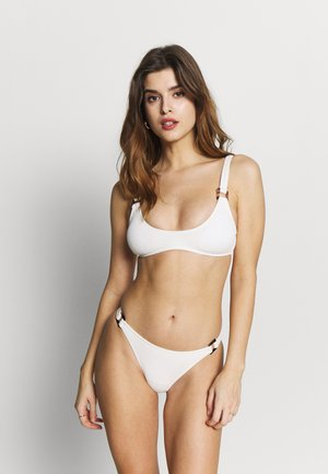 SQUARE RING SCOOP CROP PANT - Bikini - cream