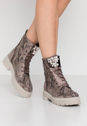 POWER - Platform ankle boots - taupe